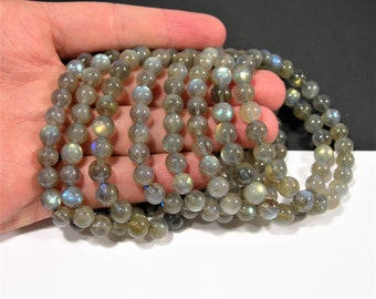 Labradorite - 8mm round beads - 23 beads - A quality -1 set - HSG137