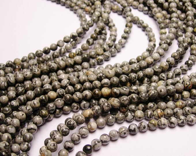 Picasso Jasper 6mm - 63 beads- full strand - RFG336