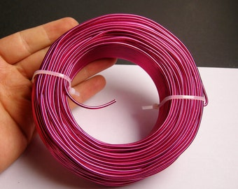 Aluminum wire 12 gauge-  2mm - 164 foot  roll - good quality - magenta - 50 meters - BRA4