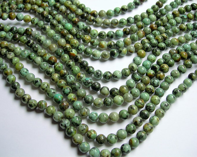 Turquoise African - 8 mm round - 1 full strand  49 beads - WHOLESALE DEAL - RFG236