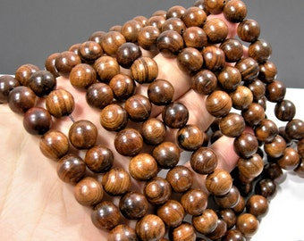 Sandalwood - 12 mm round beads - full strand - 32 beads - Pure natural Sandalwood - RFG1838