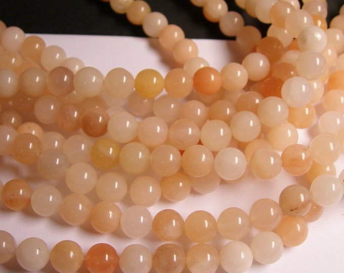 Pink aventurine  - 10 mm round beads -1 full strand - 40 beads - A Quality - RFG1154
