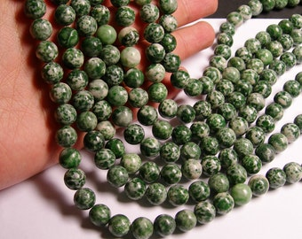Green spot Jasper - 10 mm - round bead - 39 beads - full strand - RFG1117