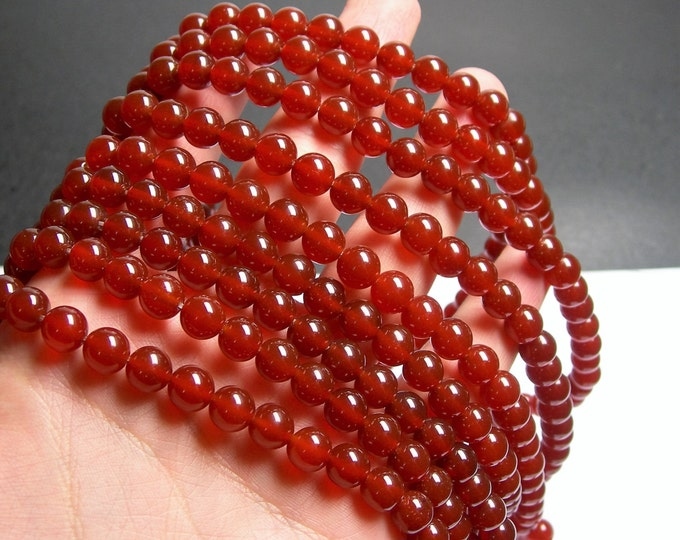 Carnelian 8mm round beads - 1 full strand - 48 beads per strand - AA quality - RFG276
