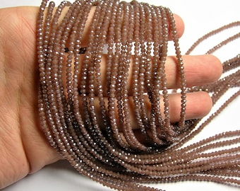 Crystal - rondelle faceted 3mm x  2mm beads - 196 beads - AA quality - opaque - plum purple brown   - CAA2G183