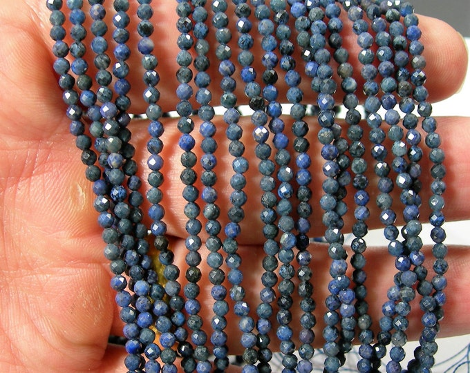 Dumortierite - 2.5mm micro faceted beads - full strand - 145 beads - PG372