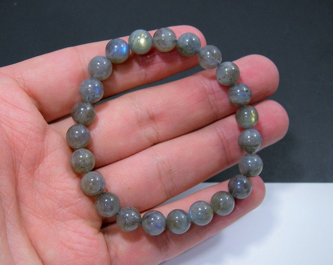 Labradorite - 8mm round beads - 23 beads - 1 set - HSG95