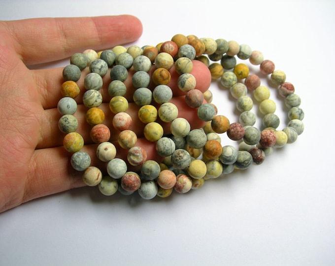 Sky eye jasper  - 8mm round beads - matte - 23 beads - 1 set - A quality - HSG20