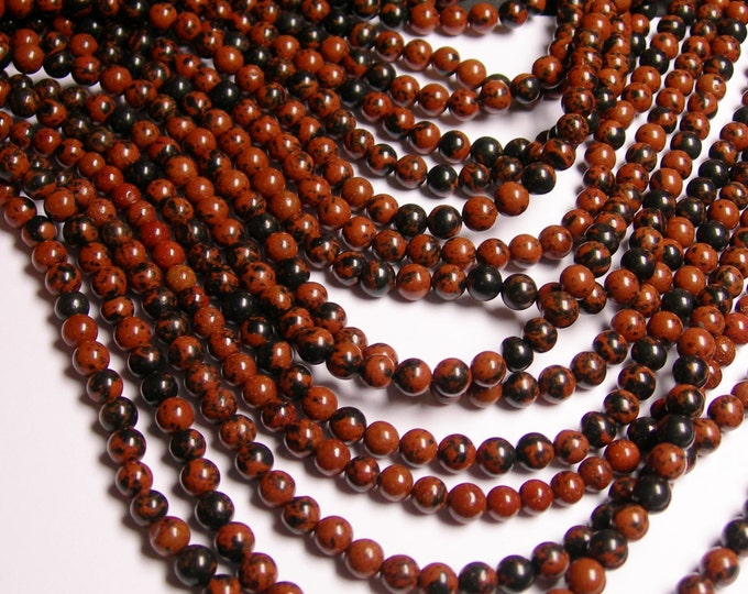 Mahogany Obsidian 4 mm A quality - 88 beads per strand - full strand - WHOLESALE DEAL -RFG1142
