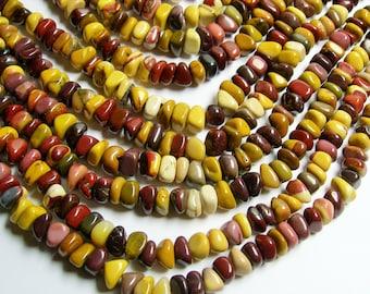Mookaite Jasper  - bead - full strand -  pebble nugget - chip stone - PSC141