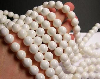 Tridacna - 12mm round - 1 full strand  - 33 beads - Genuine Tridacna - AA QUALITY  - RFG459