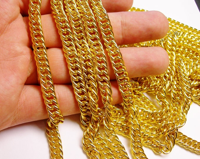 Gold chain - lead free nickel free won't tarnish - 1 meter-3.3 feet made from aluminum