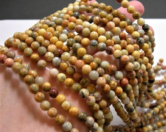 Crazy Lace Agate - 6mm round - 1 full strand - 62 beads - A quality - WHOLESALE DEAL - RFG1456