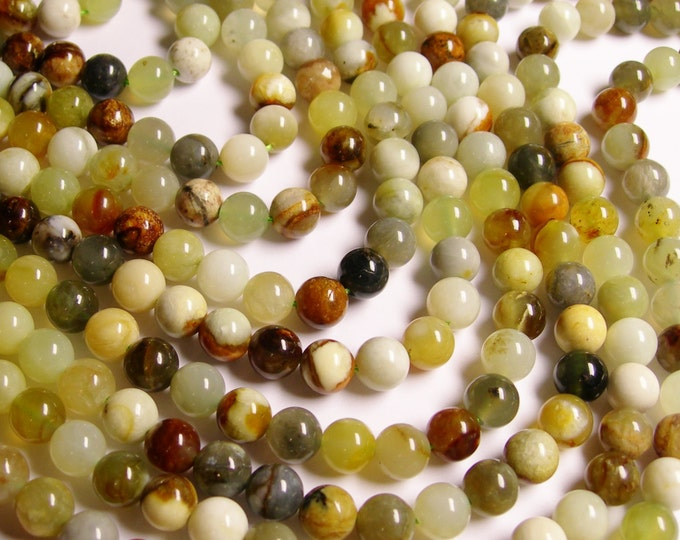 Jade 8 mm round - A quality - 48 beads per strand -  1 full strand