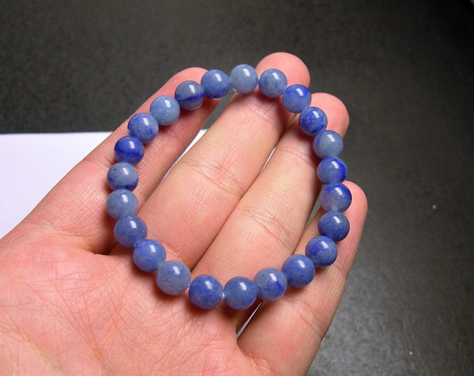 Blue Aventurine - 8mm round beads - 23 beads - 1 set - A quality - HSG65