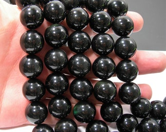 Obsidian rainbow - 16 mm round beads -  full strand - 25 beads - AA quality - RFG803