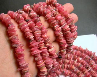 Rhodocrosite gemstone - bead - full strand - pebble - chip stone - A quality - PSC161