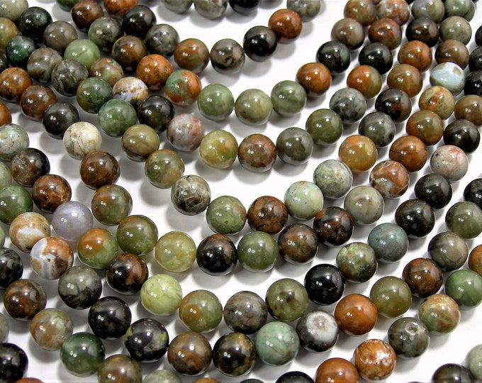 Madagascar ocean jade - 8mm  round - 1 full strand - 49 beads - A Quality - RFG1574