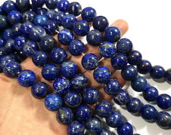 Lapis lazuli 16mm -  round - 1 full strand - 24 beads - natural - RFG1761
