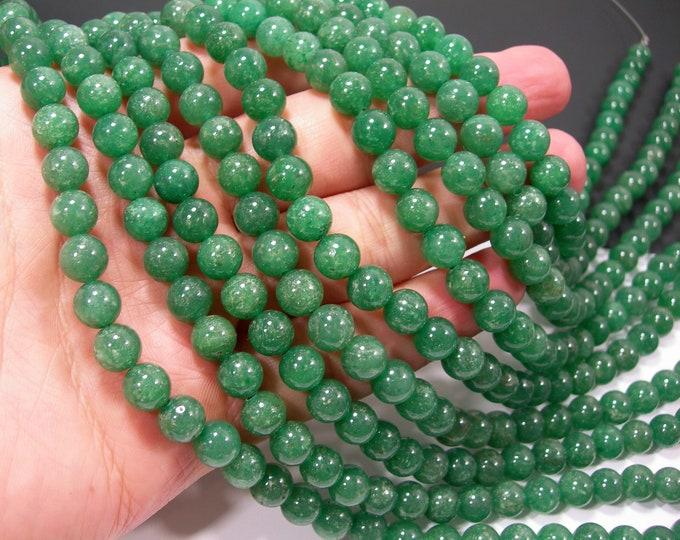 Green Aventurine 8mm round beads -  full strand - 49 beads  - Brazil Aventurine - RFG2109