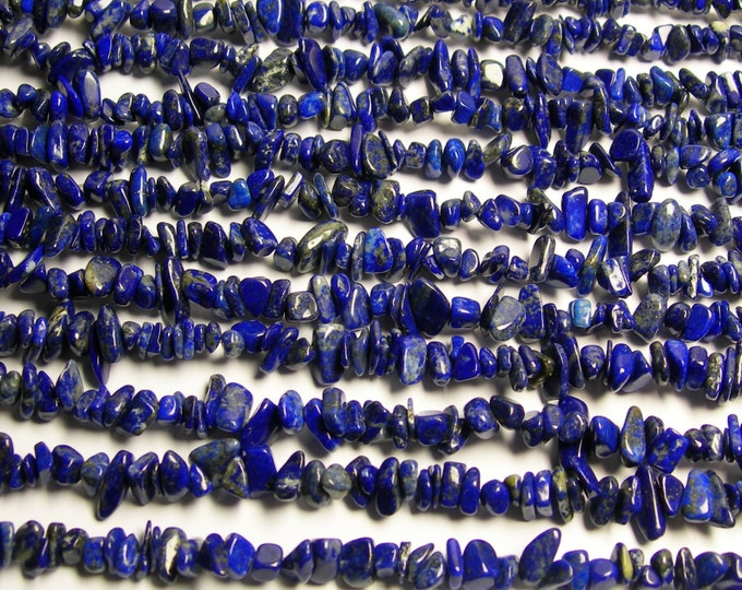 Lapis lazuli - bead - full 36 inch strand - chip stone - 8 mm -  AA quality - PSC64