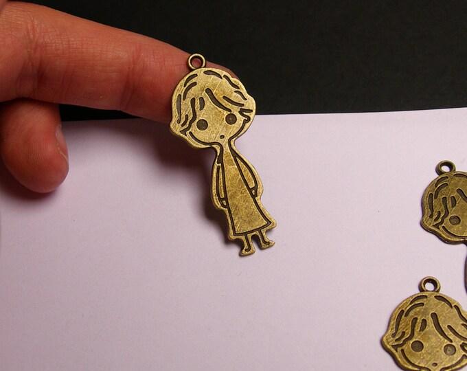 Little prince charms - 6 pcs - brass color -  Hypoallergenic -  le petit prince - Baz 7