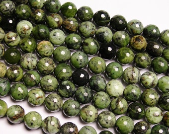 Rainforest jasper  - 12mm round faceted beads -1 full strand - 32beads - A Quality - NRG167
