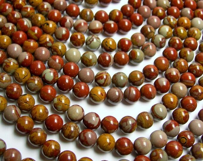 Noreena Jasper -  8 mm round beads -1 full strand - 50 beads - AA quality - RFG286