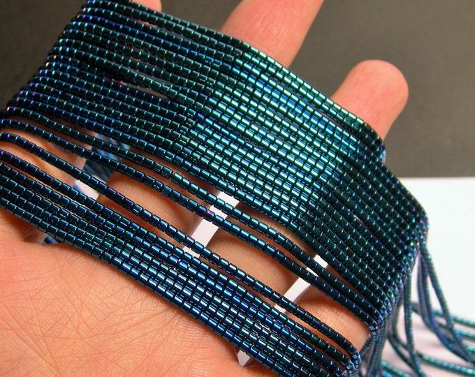 Hematite Blue - 2mm heishi  beads - 1 full strand - 195 beads - AA quality - PHG205