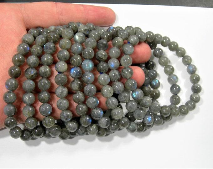 Labradorite - 8mm round beads - 23 beads - 1 set - A quality - HSG95