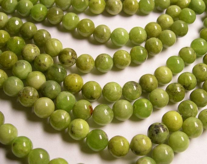 Olivenite - 8 mm round beads - 1 full strand - 64 beads - RFG384