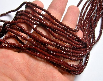 Crystal faceted rondelle - 3.5mmx2.5mm - Burgundy - 147 pcs - full strand - CRV155