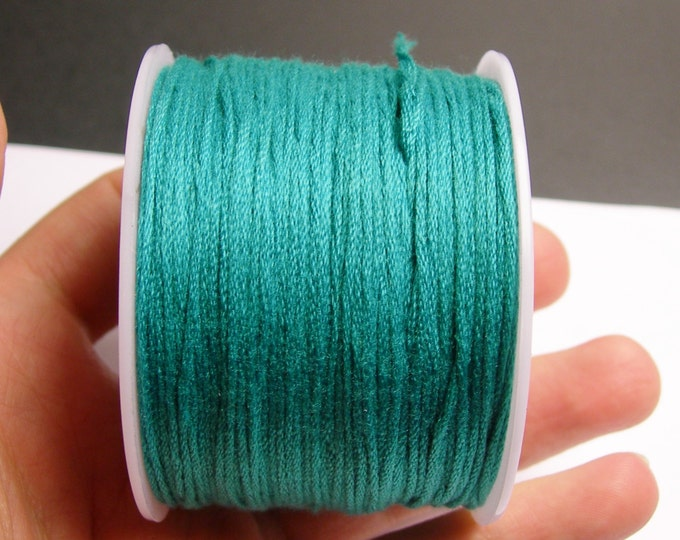 Cotton Cord - knotting - embroidery cord - 1mm - 120 meter - 390 foot - emerald green - CTN1