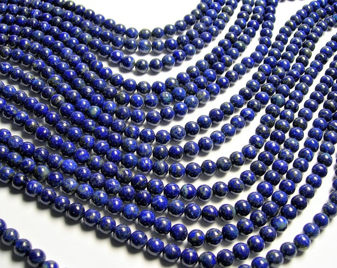 Lapis lazuli 8mm -  round - 1 full strand  - 49 beads - A quality - natural - RFG1245