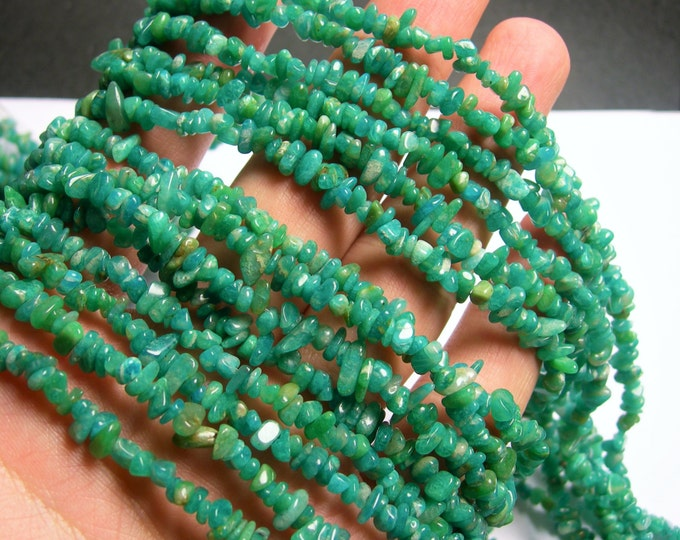 Russian Amazonite - 36 inch full strand - pebble - chip stone  - PSC271
