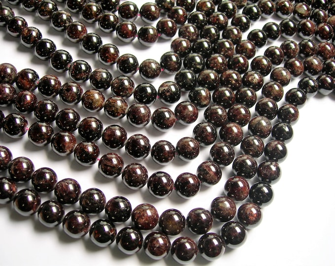 Garnet - 12mm (12.5mm) round beads -1 full strand - 32 beads - Red - RFG1231