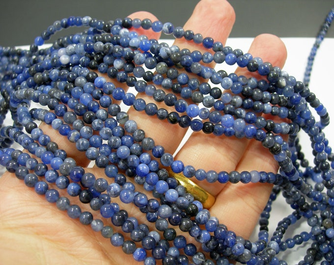 Sodalite - 4 mm round beads -1 full strand - 97 beads - A quality -RFG104