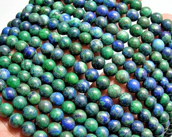 Azurite - 6mm round beads -1 full strand - 62 beads - WHOLESALE DEAL - RFG721