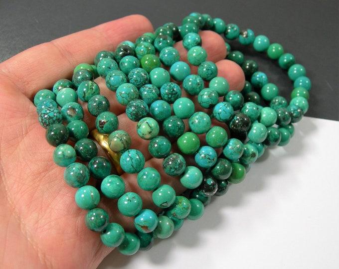 Howlite turquoise - 8mm round beads - 23 beads - 1 set - HSG246