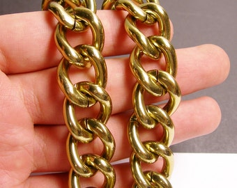 Brass chain - lead free nickel free won't tarnish - 1 meter - 3.3 feet - aluminum chain - cable chain - NTAC105