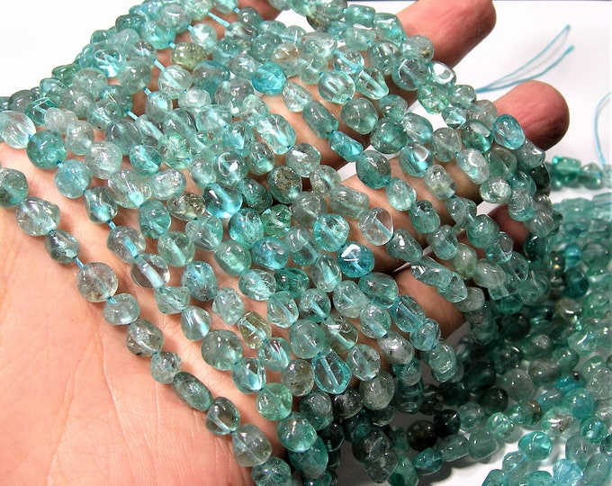 Apatite gemstone pebble nugget beads -  55 beads per strand - 16 inch strand  - PSC1705
