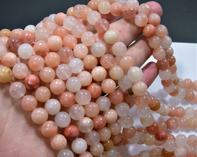 Pink aventurine matte - 10 mm round beads - full strand - 38 beads - Matte -  A Quality - RFG1870