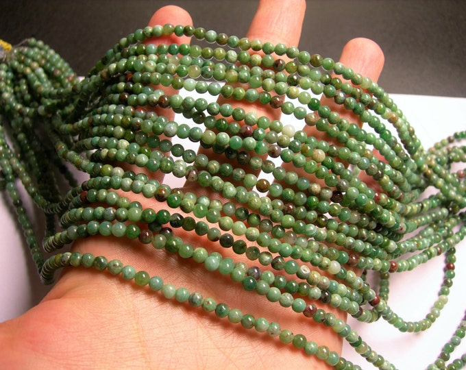 Australian Bloodstone - 4mm round beads -1 full strand - 98 beads  - RFG926