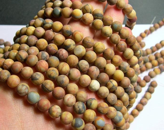 Venus Jasper - 8 mm round beads -1 full strand - 50 beads - matte - A quality - RFG767