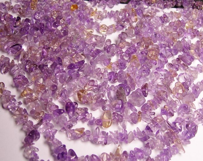 Ametrine  - chip stone beads  -1 full strand - 16 inch - NRG30