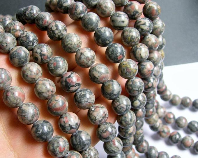 Crinoid  Jasper - 10mm  round beads -1 full strand - 39 beads - RFG450