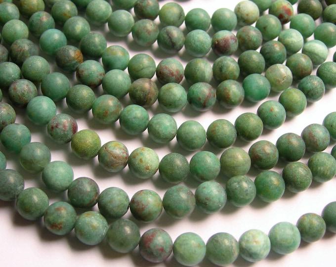 Australian Bloodstone Matte - 8mm round beads -1 full strand - 49 beads - matte - WHOLESALE DEAL - RFG995