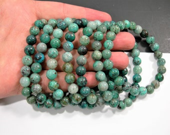 Chrysocolla - 8mm round beads - 23 beads - 1 set  - Natural Chrysocolla - HSG119