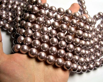 Pearl 14mm round lavender Pearl 1 full strand - 29 beads - SPT51 - Shell pearl