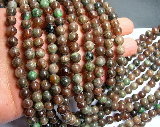 Kashgar Garnet - 8mm round bead - 50 beads - full strand - RFG289